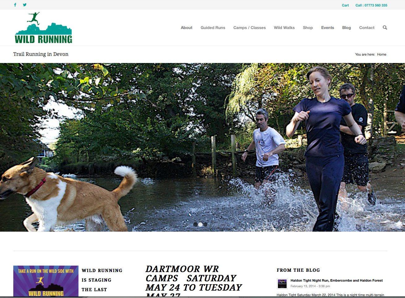 Wild Running Website Design Devon