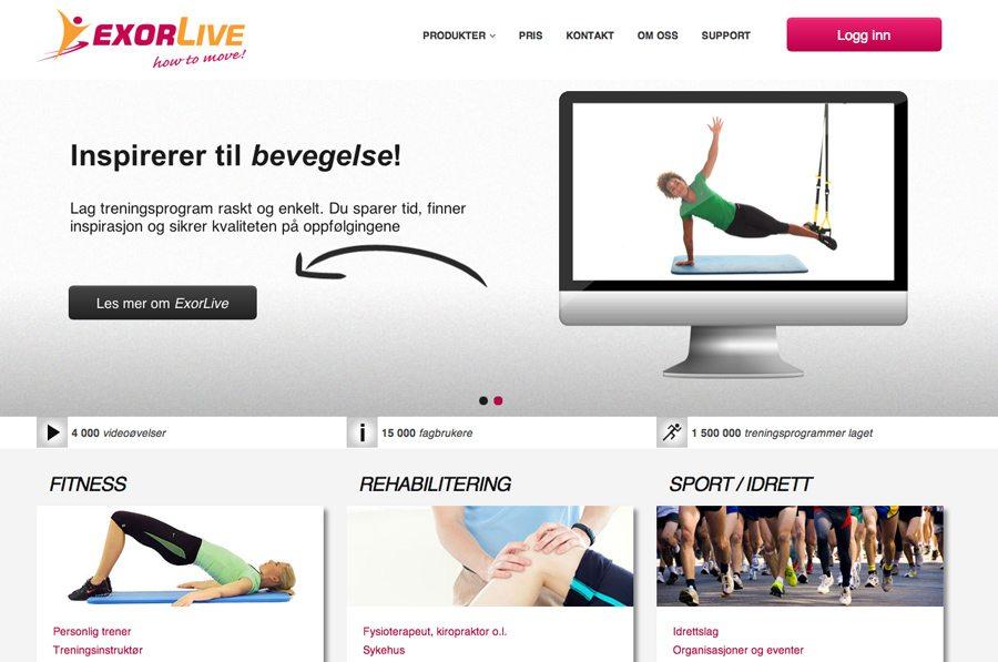 Exorlive Website Design
