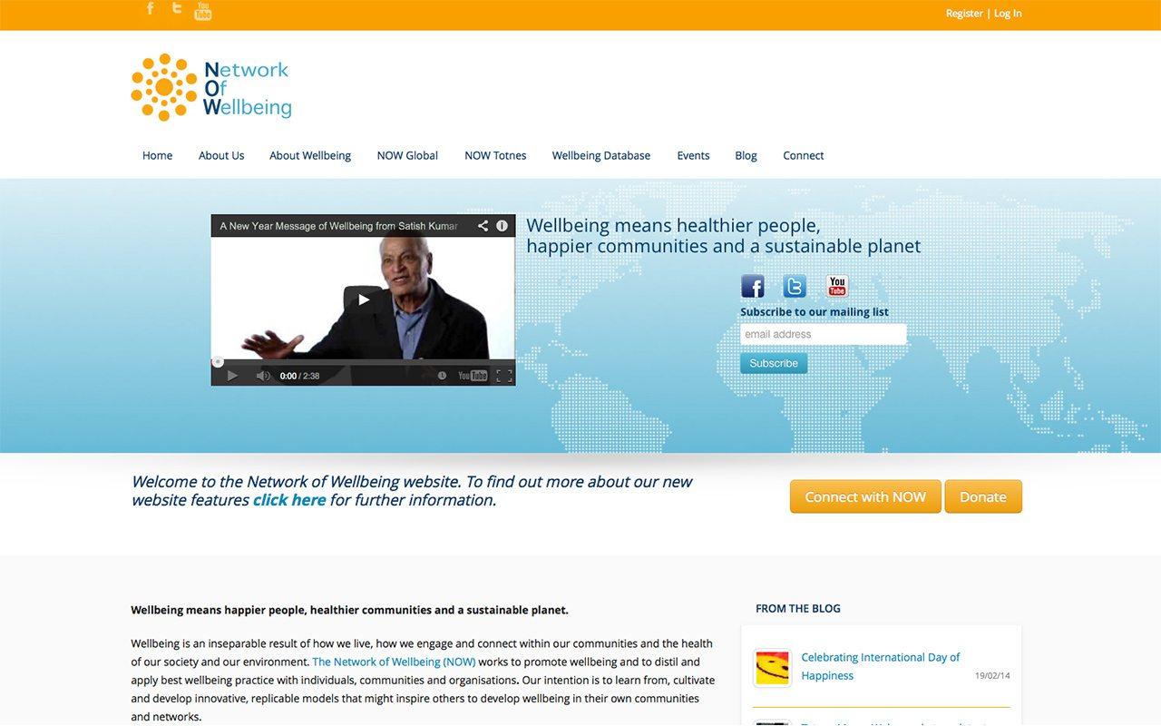 Network of Wellbeing Website Design