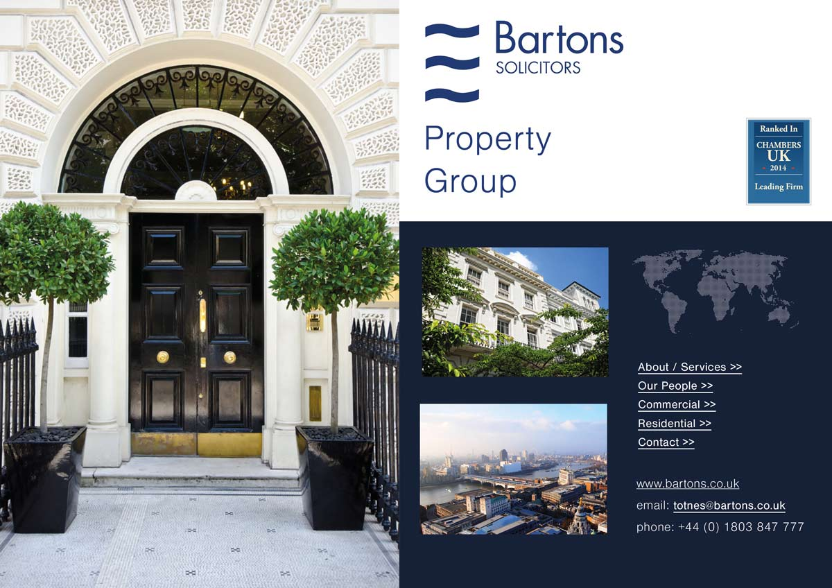Bartons Solicitos Brochure Design